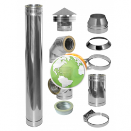 KIT Basico Estufa Chimenea inox simple